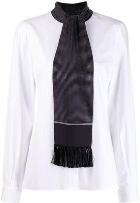 Dolce & Gabbana Scarf Detail Shirt