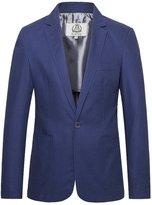 E-artist Men's Slim Fit Casual Linen Blazer Jacket X15 XXXX-Large