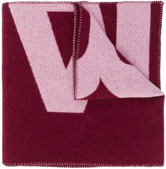 Isabel Marant Logo Print Knitted Scarf