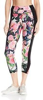 Betsey Johnson Women's Radiant Rose Insert Banded Crop Legging