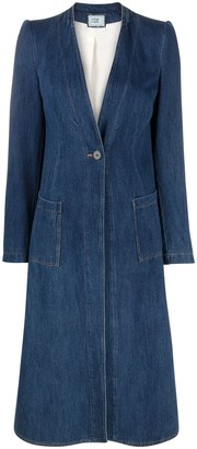 Forte Forte V-neck denim coat