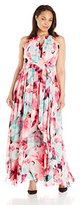 Eliza J Women's Plus-Size Floral Maxi Dress