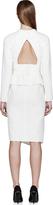 Proenza Schouler Ivory Textured Asymmetrical Tiered Dress