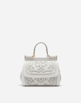 Dolce & Gabbana Small Sicily Bag In Intaglio Nappa Leather