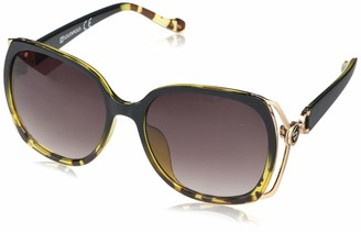 Southpole Women's 1047SP Rectangular Metal Vented Temple Sunglasses with 100% UV Protection 55 mm