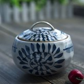 FSHFK Under glaze erami Spie jar/Japanese-style hand painted egg up/ sweets anister/ the kithen Spie jar
