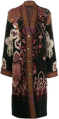Etro printed cardi coat