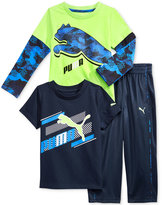Puma 3-Pc. T-Shirt, Shirt & Pants Set, Toddler Boys (2T-5T) & Little Boys (2-7)