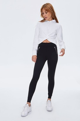 Forever 21 Zip-Accent Leggings