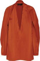 Haider Ackermann Metallic wool-blend sateen top