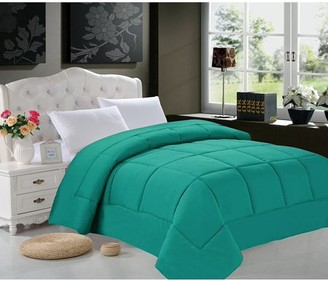 Elegant Comfort Celine Line High Quality Double-Filled Comforter Twin/Twin XL , Turqouise