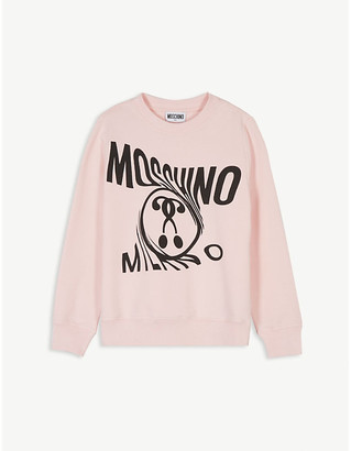 Moschino Swirl logo cotton sweatshirt 4-14 years