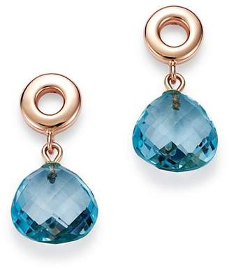 Bloomingdale's Blue Topaz Geometric Drop Earrings in 14K Rose Gold - 100% Exclusive
