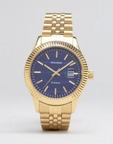 Sekonda Gold Bracelet Watch With Black Dial Exclusive To Asos