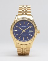 Sekonda Gold Bracelet Watch With Blue Dial Exclusive To ASOS