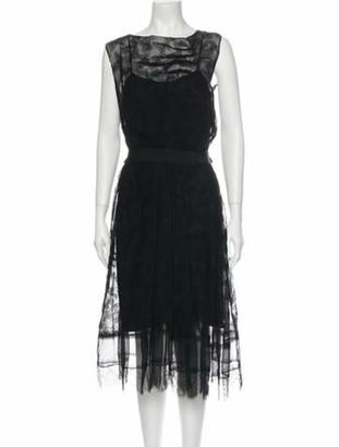 Nina Ricci Silk Midi Length Dress Black