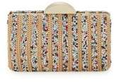 Franchi Bead Box Leather Clutch