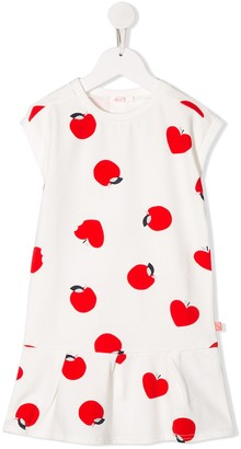 Billieblush Apple Print Dropped Waist Dress