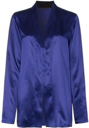 Haider Ackermann shawl collar silk-satin blouse
