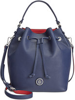 Tommy Hilfiger Mara Double-Sided Drawstring Bucket Bag