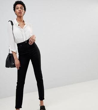 Asos Tall ASOS DESIGN Tall Farleigh high waisted slim mom jeans in clean black