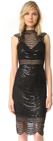 Saylor Heloise Scallop Sequin Dress