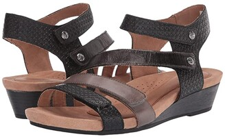 Cobb Hill Hollywood 4 Strap (Black/Multi) Women's Shoes