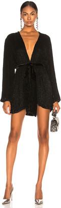 retrofete Gabrielle Robe Dress in Black | FWRD