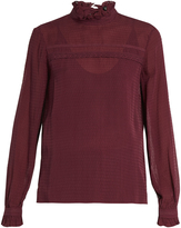 Saloni Emile silk-jacquard blouse