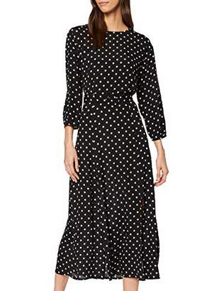 Warehouse Women's Belted Batwing Midi Spray Spot Dress