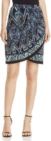 Nic+Zoe Beaming Print Faux-Wrap Skirt