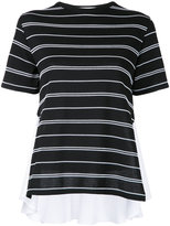 Le Ciel Bleu stripe contrast T-shirt - women - Cotton/Nylon/Polyurethane - 36