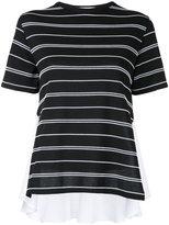 Le Ciel Bleu stripe contrast T-shirt
