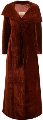 Gentry Portofino oversized velvet coat