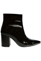Anine Bing Natalie Boot in Black Patent Leather