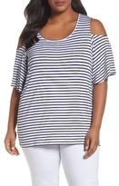 Foxcroft Plus Size Women's Cold Shoulder Top