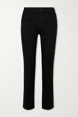 J Brand Teagan High-rise Straight-leg Jeans - Black