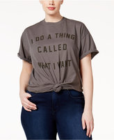 Hybrid Trendy Plus Size Cotton What I Want Graphic T-Shirt