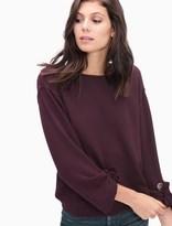 Splendid Madison Avenue Grommet Sweatshirt