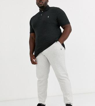 Polo Ralph Lauren Big & Tall cuffed joggers player logo in grey marl