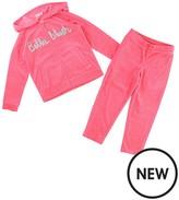 Billieblush Girls Embroidered Velour Track Suit
