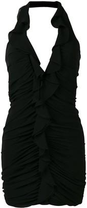 Saint Laurent deep V-neck mini dress