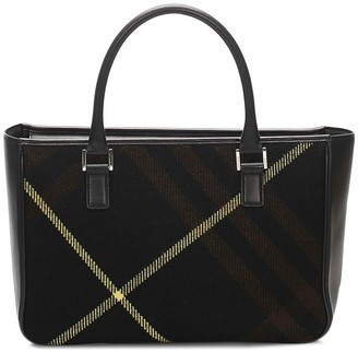 Burberry Pre-Owned Plaid Rectangular Tote Bag