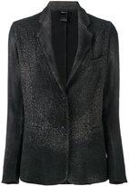 Avant Toi embellished blazer - women - Cotton/Linen/Flax/Polyamide/Cashmere - XS