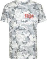River Island Boys khaki green camo gothic print T-shirt