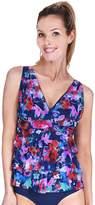 Women's Mazu Swim Tummy Slimmer Floral Tiered Tankini Top