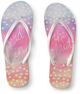 Aeropostale Womens Head In The Clouds Flip-Flop White
