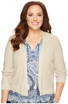 Lucky Brand Plus Size Open Stitch Cardigan