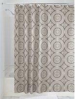 InterDesign Medallion Shower Curtain, Stall, 54x78-Inch, White/