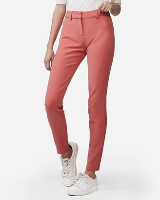 Express Petite Mid Rise Stretch Skinny Pant